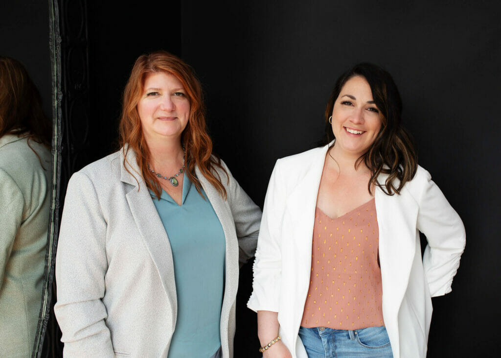brand strategists Amber Brooks and Laurie Baines